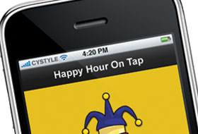 Happy Hour On Tap - iPhone Application